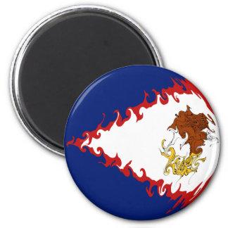 American Samoa Gnarly Flag 2 Inch Round Magnet