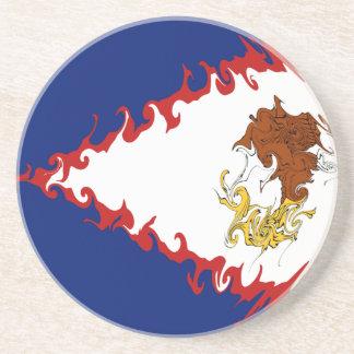 American Samoa Gnarly Flag Beverage Coaster