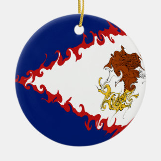 American Samoa Gnarly Flag Ceramic Ornament