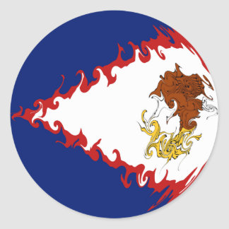 American Samoa Gnarly Flag Stickers