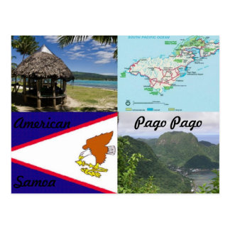 American Samoa Pago Pago postcard