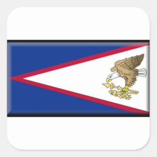 American Samoa Pegatina Cuadrada