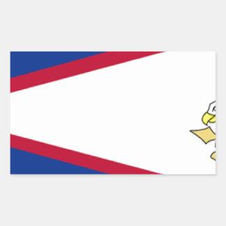 American Samoa Pegatina Rectangular