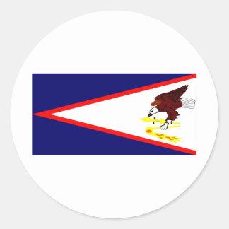 American Samoa Pegatina Redonda