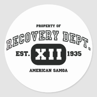 AMERICAN SAMOA Recovery Classic Round Sticker
