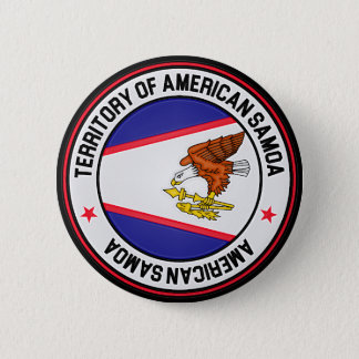 American Samoa Round Emblem Button