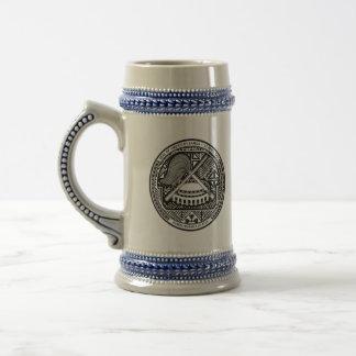 american samoa seal beer stein