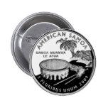 American Samoa state quarter Button