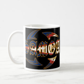 American Samoa Tribal Black 2 Coffee Mug