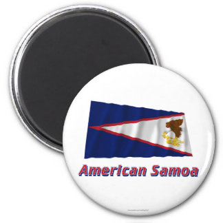 American Samoa Waving Flag with Name Magnet