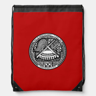 American Samoan coat of arms Drawstring Backpacks