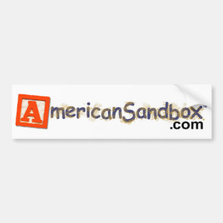 American Sandbox Bumper Sticker Car Bumper Sticker