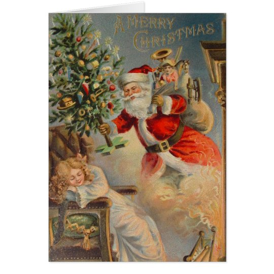American Santa Christmas Dream Card