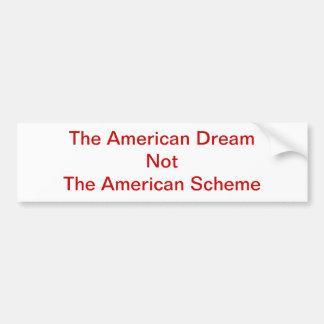 American Scheme bumper sticker Car Bumper Sticker
