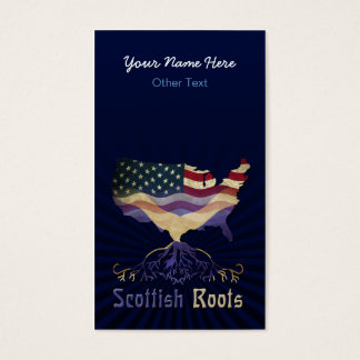 American Scottish Roots Custom Business Cards