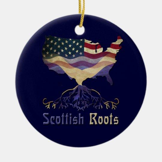 American Scottish Roots Ornament