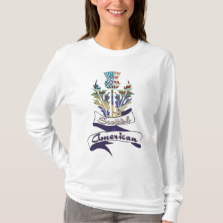 American Scottish Thistle Flags Women's T-Shirts
