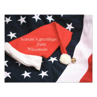 American season's greetings Wisconsin Personalized Invitation