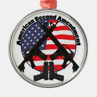 American Second Amendment Metal Ornament