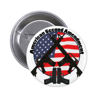 American Second Amendment Pinback Button