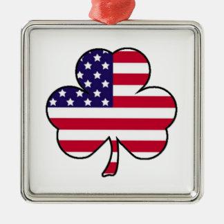 American Shamrock Metal Ornament