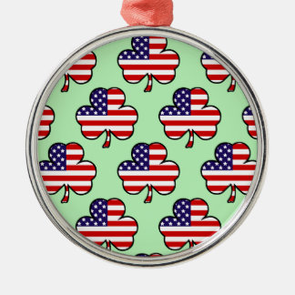 American Shamrocks Metal Ornament