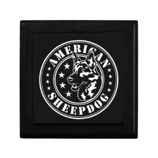 American Sheepdog Patch Keepsake Box