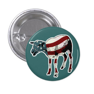 American Sheeple Button