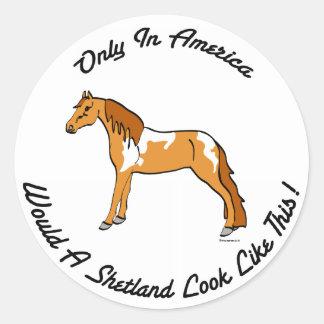 American Shetland Classic Round Sticker