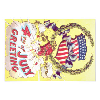 American Shield Firecrackers Fireworks Photo Print