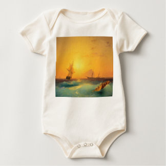 American Shipping Off the Rock of Gibraltar 1873 Baby Bodysuit
