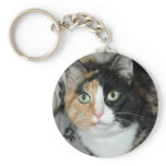 American Shorthair Calico Shelter Cat Keychain