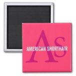 American Shorthair Monogram Design Magnet