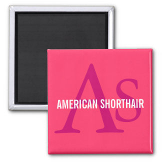 American Shorthair Monogram Design Magnets