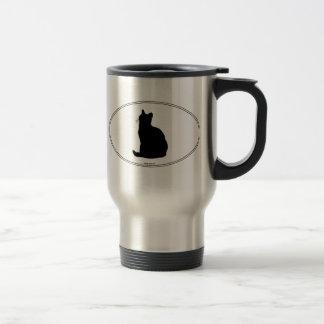 American Shorthair Silhouette Travel Mug