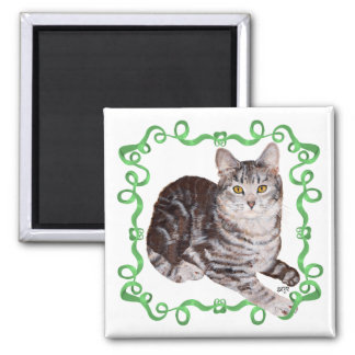 American Shorthair Tabby Cat Fridge Magnets