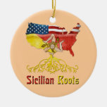 American Sicilian Roots Ornament