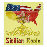 American Sicilian Roots Poster