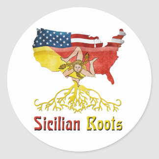 American Sicilian Roots Stickers