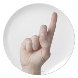 American Sign Language 12 Melamine Plate