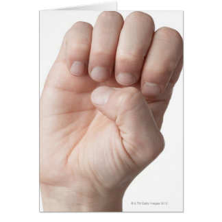 American Sign Language 14 Card