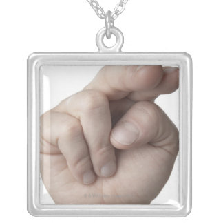 American Sign Language 16 Silver Plated Necklace
