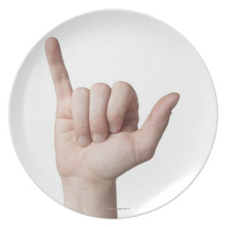 American Sign Language 22 Dinner Plate