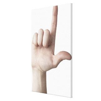 American Sign Language 25 Canvas Print