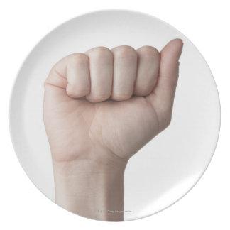 American Sign Language 26 Melamine Plate