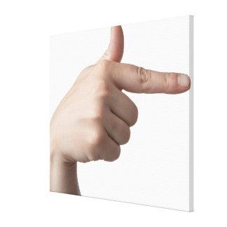 American Sign Language 28 Canvas Print