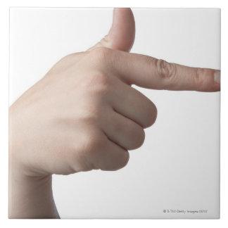 American Sign Language 28 Ceramic Tile