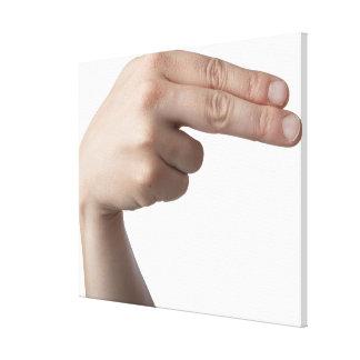 American Sign Language 4 Canvas Print