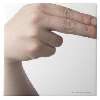 American Sign Language 4 Ceramic Tile