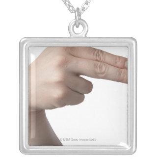 American Sign Language 4 Necklaces